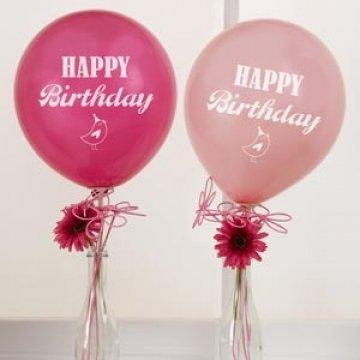 Neviti Happy Birthday Balloons - Hot Pink - 8 pack