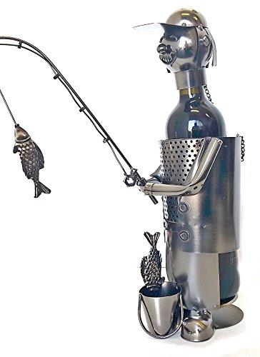 (Bellaa 21589 Fisherman Wine Bottle Holder Nautical Fish Boat Deco )