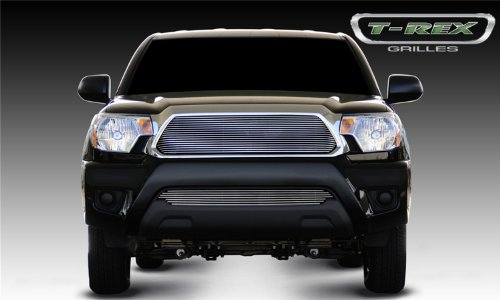 T-rex Vertical Upper Billet Grille - T-Rex Grilles 20938 Horizontal Aluminum Polished Finish Billet Grille Insert for Toyota Tacoma