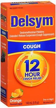 - Delsym 12 Hour Cough Suppressant Liquid-Orange-5 oz