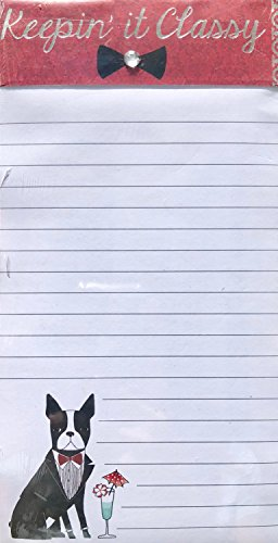 Molly & Rex Magnetic 100 Sheet Frenchie List Pad - Keepin' it Classy 13029