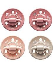 nip Bio Baby fopspeen Cherry Green kersenvorm van natuurlijk rubber, COLOURS Rose / Blush/Sand - aanbevolen vanaf 0-6 maanden - maat 1, 4 stuks
