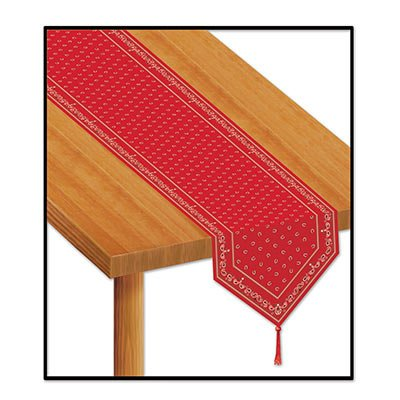 Beistle 54471 Printed Bandana Table Runner Pack Of 12