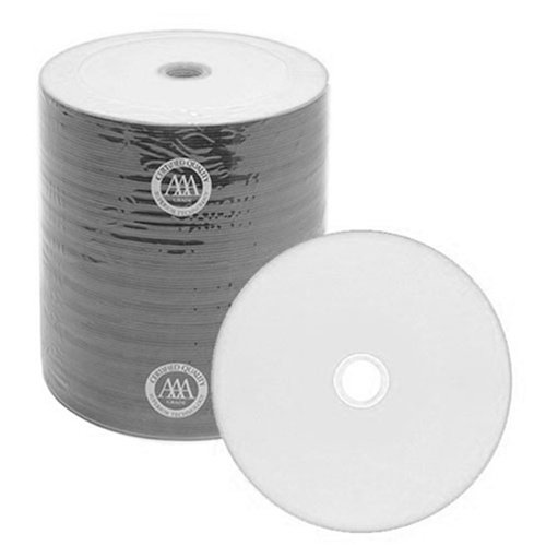 500 Spin-X Diamond Certified 48x CD-R 80min 700MB White Inkjet Hub Printable by SpinX