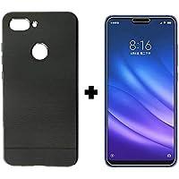 Capa Case Preta Flexível + Película de Gel Xiaomi Mi 8 Lite