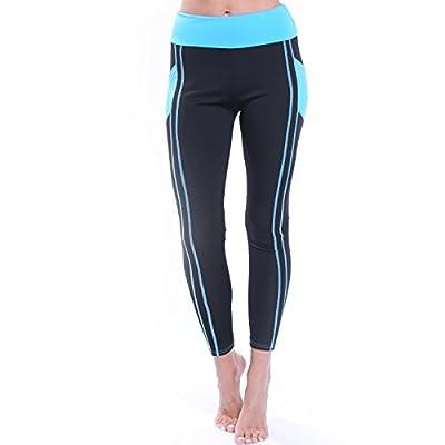 CROSS1946 Women's Active Yoga Pants Running Hips Heart Shape Striped Capris with Waistband Leggings Workout Capris