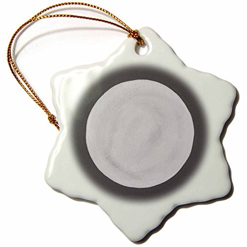 Angel Ornaments CherylsArt Holidays Halloween - Full Moon Phase Night Sky Painting - inch Snowflake Porcelain Ornament -