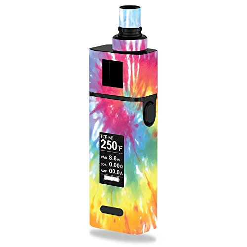 JoyeTech Cuboid Mini 80W Vape E-Cig Mod Box Vinyl DECAL STICKER Skin Wrap / Peace Love Heart Tie Dye Tiedye Hippy