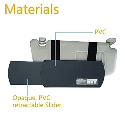 TFY Car Visor Extender Anti-Glare Sun Visor Extender Window Sunshade and UV Rays Blocker - Black: Automotive