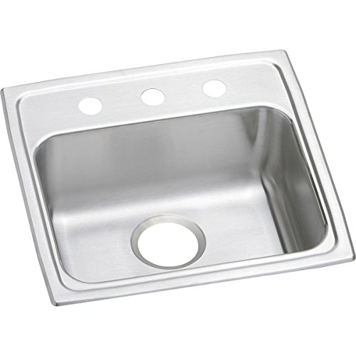 Elkay Lustertone LRAD1919603 Single Bowl Top Mount Stainless Steel ADA Sink ()
