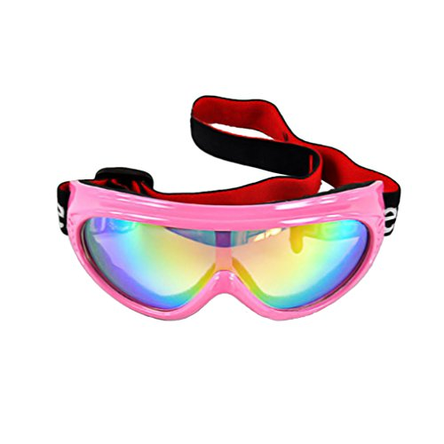 BXT Kids Children Junior Boys Girls Professional UV400 Colored Lens Sports Windproof Anti-fog Snowmobile Snowboard Bicycle Skate Protective Glasses Eyewear Ski Snow Goggles ()