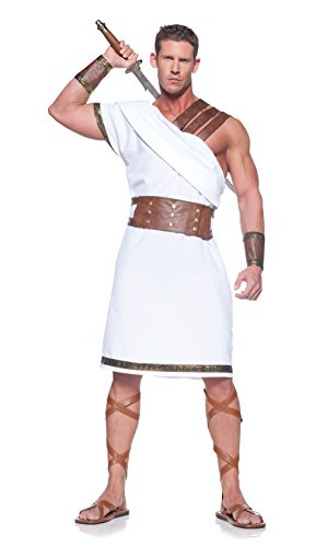 Underwraps Men's Plus-Size Greek Warrior