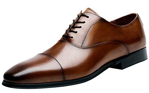 1712/5000 Scarpe Derby Da Uomo Scarpe Eleganti Stringate In Pelle Da Uomo Stringate Marrone Nero Brown