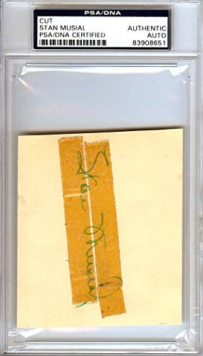 Stan Musial Autographed 3.5x4 Cut Signature St. Louis Cardinals Signed in 1950#83908651 PSA/DNA Certified