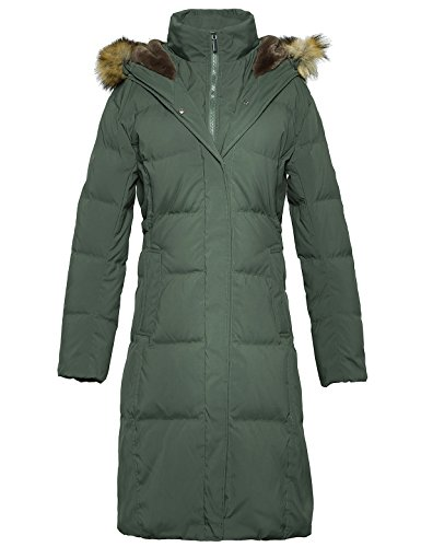 ADOMI Women's Long Hooded Thickened Down Coat with Fur Trim Army Green M ()