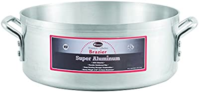 Winco USA AXBZ-28 Super Aluminum Braizer, Heavy Weight, 28 Quart, Aluminum