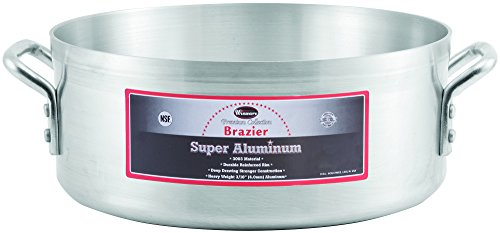 - Winco USA AXBZ-24 Super Aluminum Braizer, Heavy Weight, 24 Quart, Aluminum
