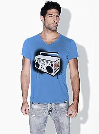 Creo Music Radio Trendy T-Shirts For Men - M, Blue