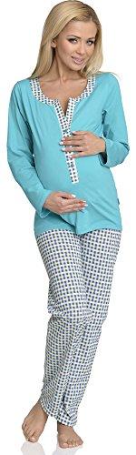 Be Mammy Mujer Lactancia Pijamas Dos Piezas Alice Turquesa