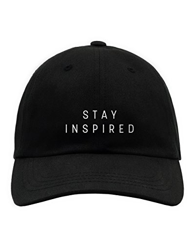 INTO THE AM Stay Inspired Logo Dad Hat, One Size, Stay Inspired (Halloween Parties In Los Angeles 2017)