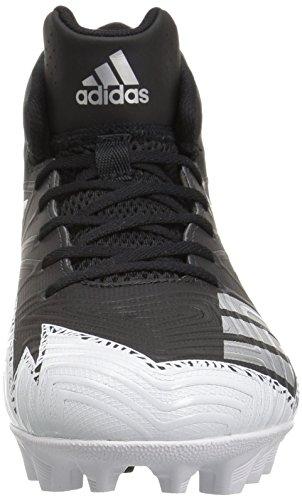 Pictures of adidas Men's Freak X Carbon Mid Football Shoe, Black/Metallic Silver/White, 9.5 Medium US 6