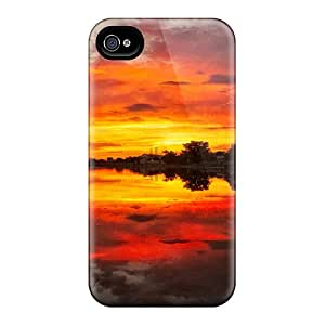 4/4s Scratch-proof Protection Case Cover For Iphone/ Hot Fiery Reflections Phone Case