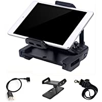 DJI Mavic Pro Spark Tablet Holder 4-12 Inch Phone Ipad Bracket Mount for Controller, with Lanyard Starp and Lightning USB Cable