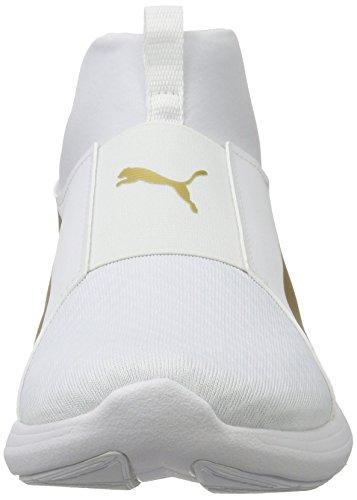 Puma Damen Rebel Mid Wns Tennisschoenen Weiß (white-team Goud)