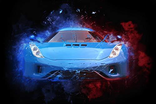 A1   Concept Car Poster Art Print 60 x 90cm 180gsm Blue Sports Men's Gift #8739 (Concept Car Poster)