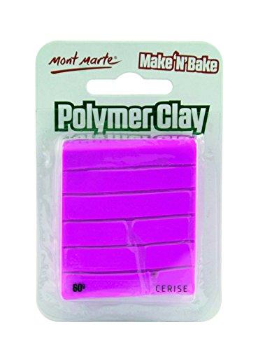 Mont Marte Make n Bake Polymer Clay - Cerise - Cerise Ceramic