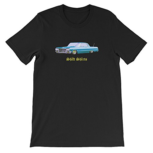 Shift Chevy (Shift Shirts Low and Slow - Lowrider 64 Chevrolet Impala Inspired Unisex T-Shirt)
