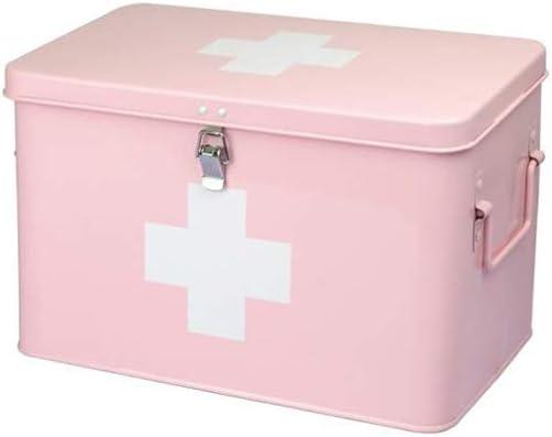 ACGNE Hogar Caja De La Medicina, De Almacenamiento De Caja Metal Médico Botiquín De Múltiples Capas De La Medicina con El Bloqueo: Amazon.es: Hogar