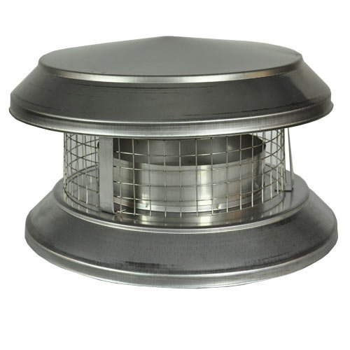Shasta Vent 6A-CD Shasta Vent Chimney Cap all Fuel HT Chimney and Deluxe Rain Cap (Double Chimney Cap compare prices)