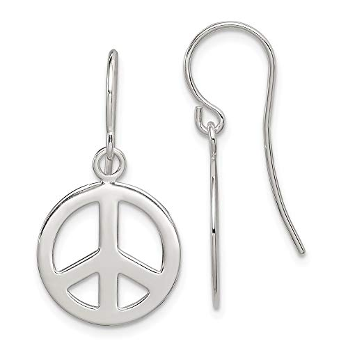 925 Sterling Silver Peace Sign Drop Dangle Chandelier Earrings Inspiration Fine Jewelry Gifts For Women For Her