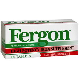 PACK OF 3 EACH FERGON 27MG TAB 1510 100TB PT#30024101510 (Fergon Iron Supplement compare prices)