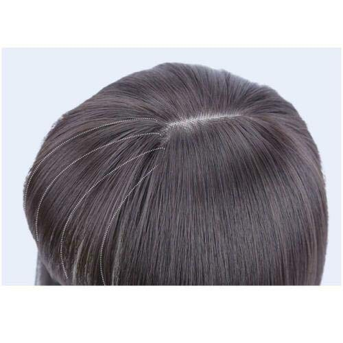 Synthetic Crown Clip in/on Hairpiece with Hair Bangs Hair Topper Wiglet (14 Inch, Light Brown)