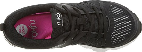 Picture of Ryka Women's Ultimate Form Running Shoe, Black/Silver, 10 W US