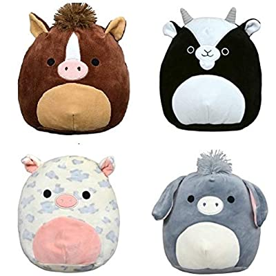 "Squishmallow Kellytoy 2020 Set of 4 Mini 5"" Farm Stuffed Animal Collection Plush Doll: Home & Kitchen"