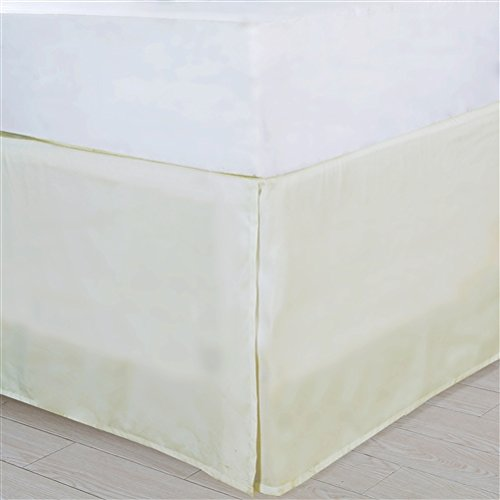 Affluence Home Fashions 103393 Pleated Bedskirt Queen Ivory JS Royal Home