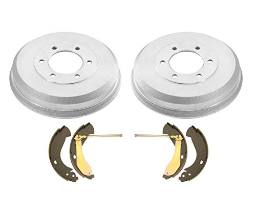 Rear Left & Right Brake Drums & Rear Brake Shoes fits for 2004-2008 GMC Canyon & Chevrolet Colorado