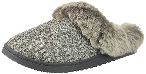 (Rampage Women's Faigel Faux Fur Lined Cushioned Slipper, Natural Knit, M M US)