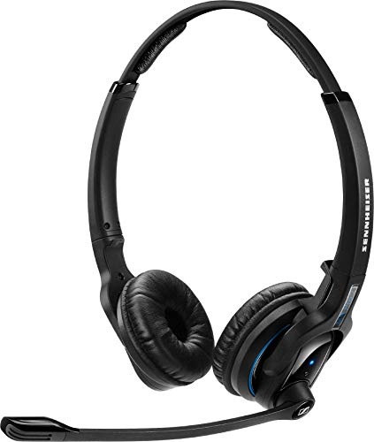 Usb Headset System Bluetooth (Sennheiser MB Pro 2 UC (506045) - Dual-Sided, Dual-Connectivity, Wireless Bluetooth Headset | For Desk/Mobile Phone & Softphone/PC Connection| w/ HD Sound & Major UC Platform Compatibility (Black))