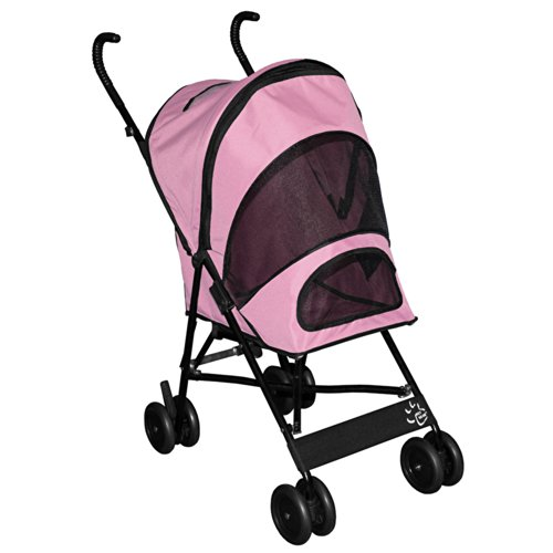 Pet Gear Travel Lite Pet Stroller for cats and dogs up to 15-pounds, Pink by Pet Gear
