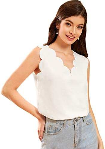 SOLY HUX Scallop Sleeveless Elastic product image