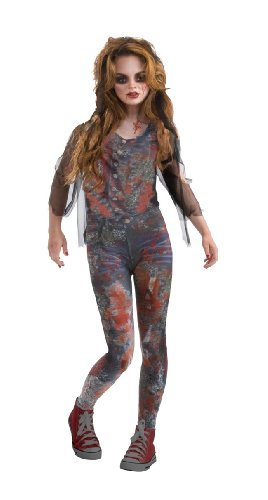 Drama Queens Zombie Dawn Costume, Medium (Halloween Zombie Costume Ideas)