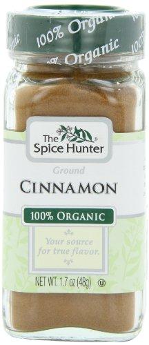 The Spice Hunter Cinnamon, Ground, Organic, 1.7-Ounce Jar