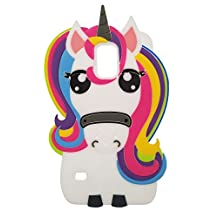 Samsung Galaxy S5 / S5 Neo Case, BENKER Fashion Cute Cartoon 3D Pattern [ Shockproof Design ] Thick Soft Silicone Back Cover Phone Case - Rainbow Unicorn