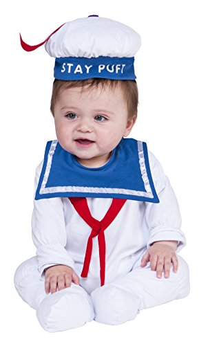 Rubie's Baby Ghostbusters Classic Stay Puft Costume Romper, As Shown, 6-12 for $<!--$4.99-->