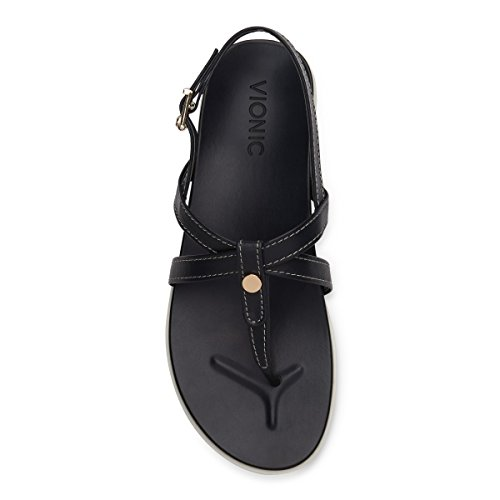 Palm Womens Navy Leather Sandals Veranda Vionic qvSwxx