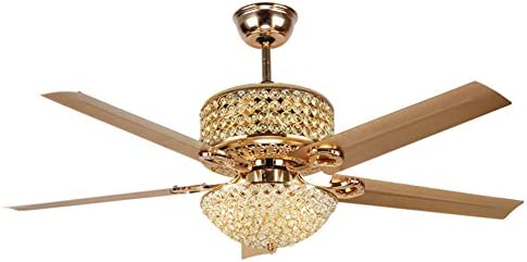 MoreChange Retro 52″ Crystal Ceiling Fan Light